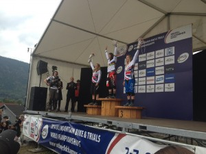 world champs podium